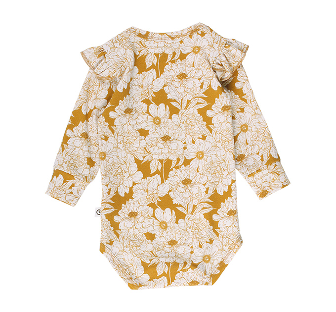 Floral baby ロンパース