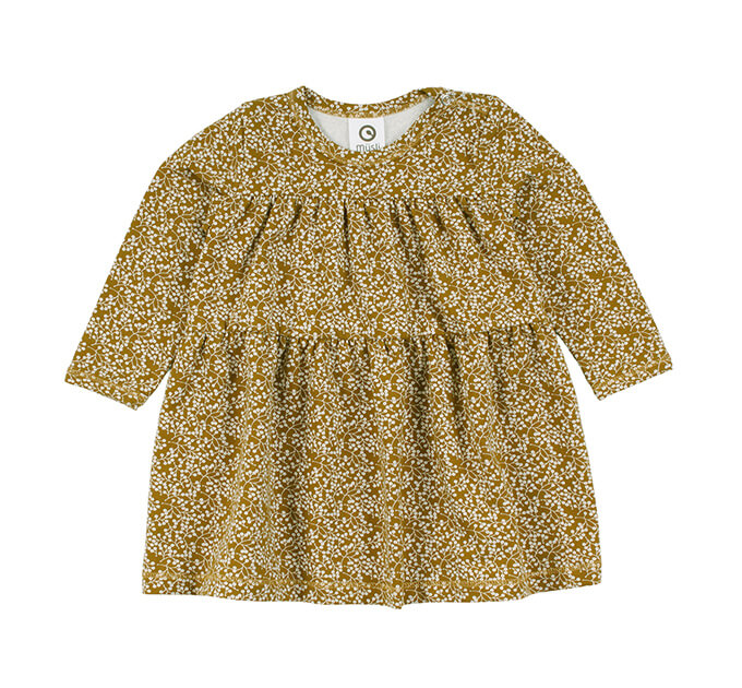 Petit fleur ベビーワンピース グリーンコットン( Musli by Green Cotton )80~98cm オーガニックコットン
