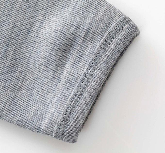 Wooly オーガニックウールロンパース(Pale greymarl)グリーンコットン( Musli by Green Cotton )