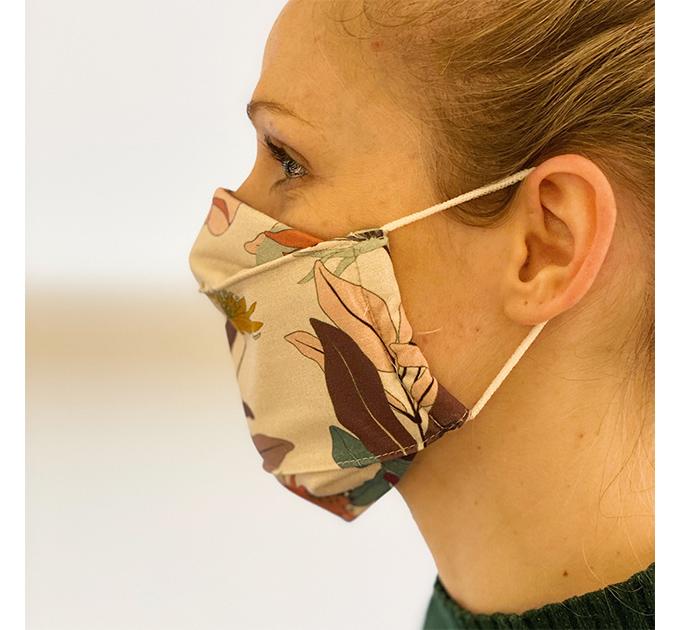 【大人用】オーガニックコットンマスク フィルター内蔵 布製三層マスク 北欧デザイン
