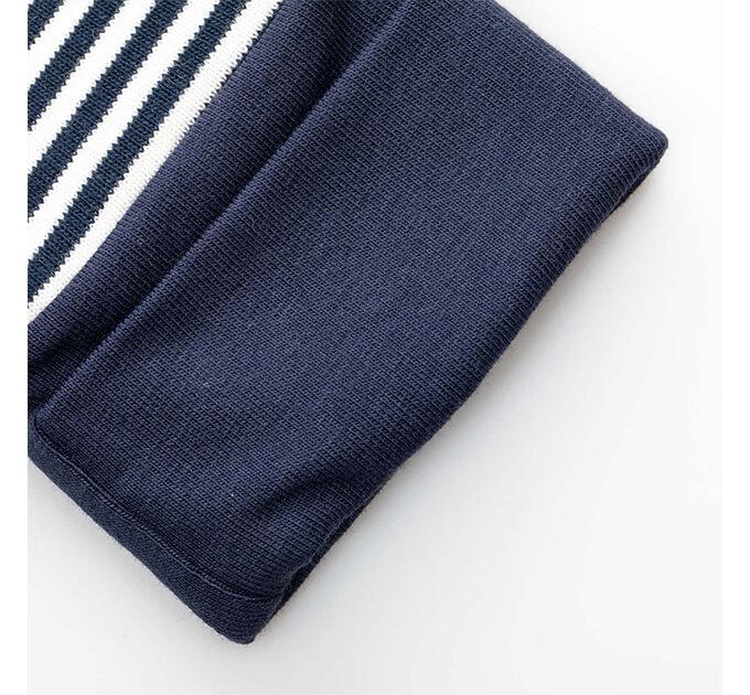 stripe ロンパース(Navy)グリーンコットン( Musli by Green Cotton )