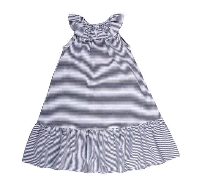 オーガニックコットン Woven ストライプ ドレス