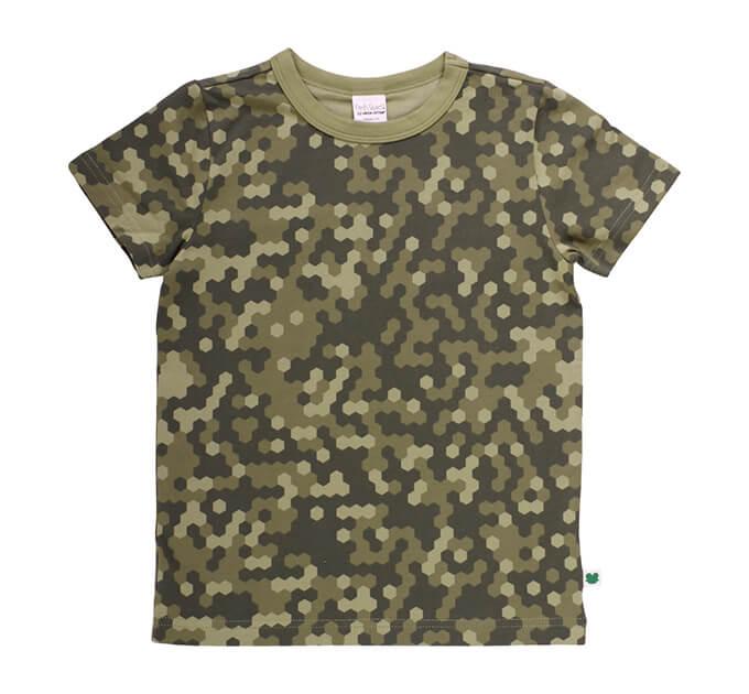 オーガニックコットン Boys Hiking カモフラージュ  半袖Tシャツ