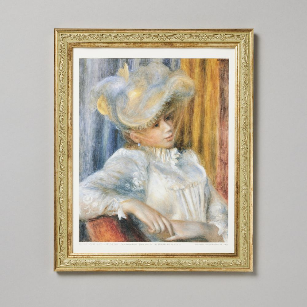 フレームセット 帽子の女