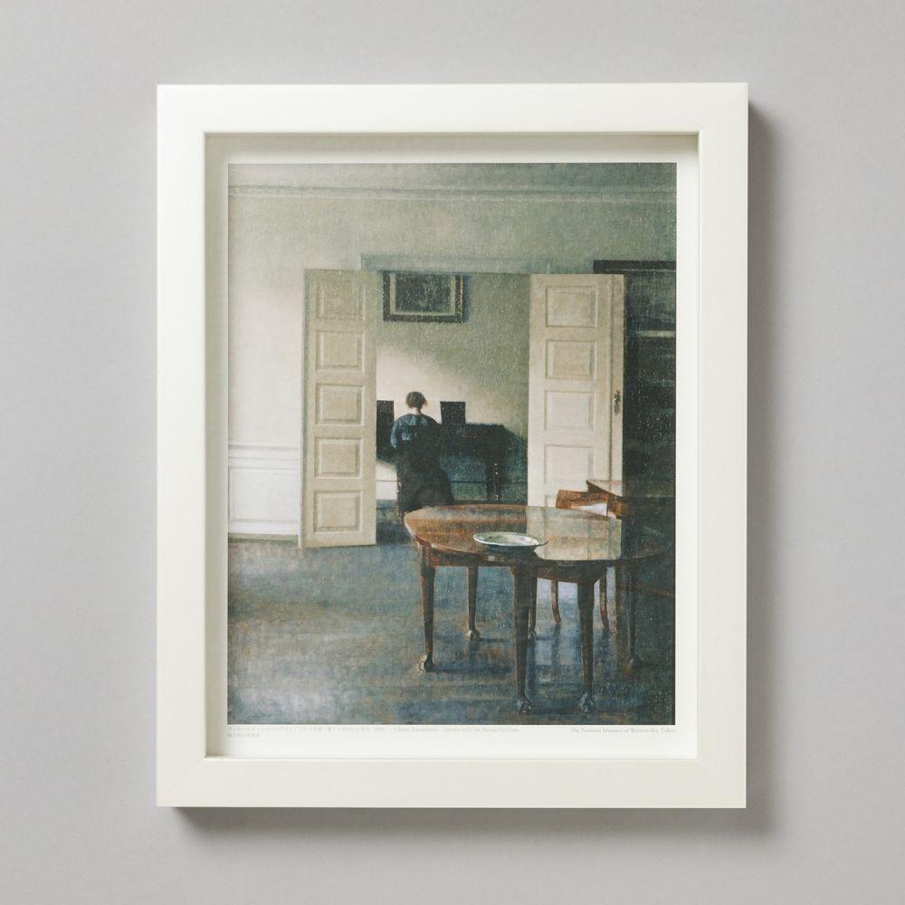 フレームセット<br>ピアノを弾く妻イーダのいる室内