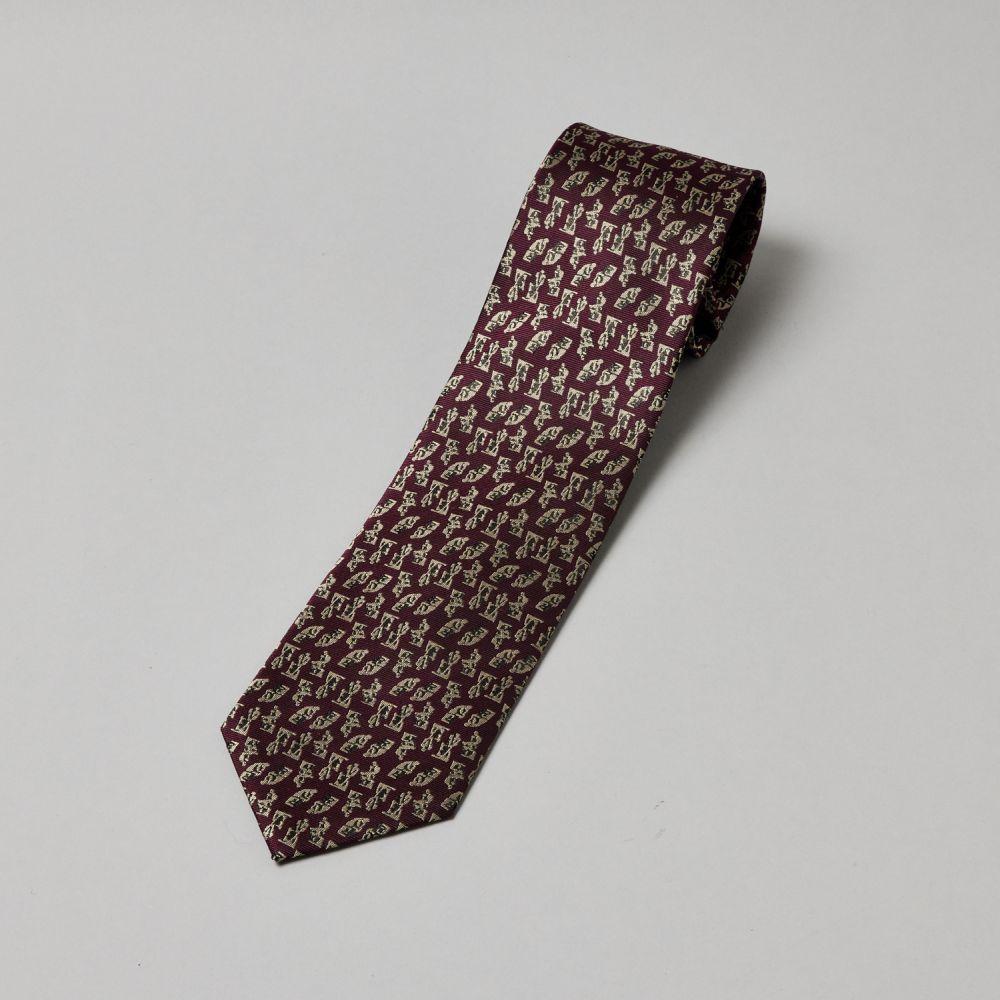 ネクタイ考える人 織り 赤