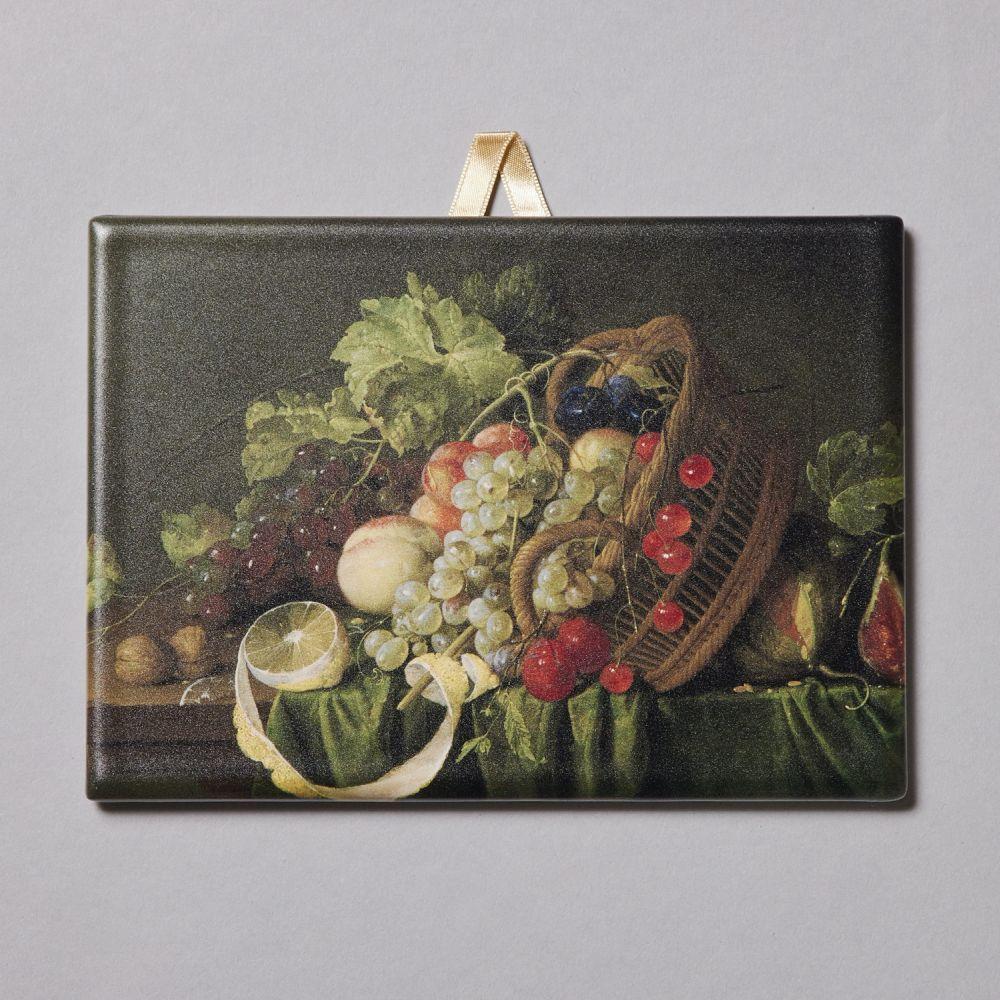 飾りタイル 果物籠