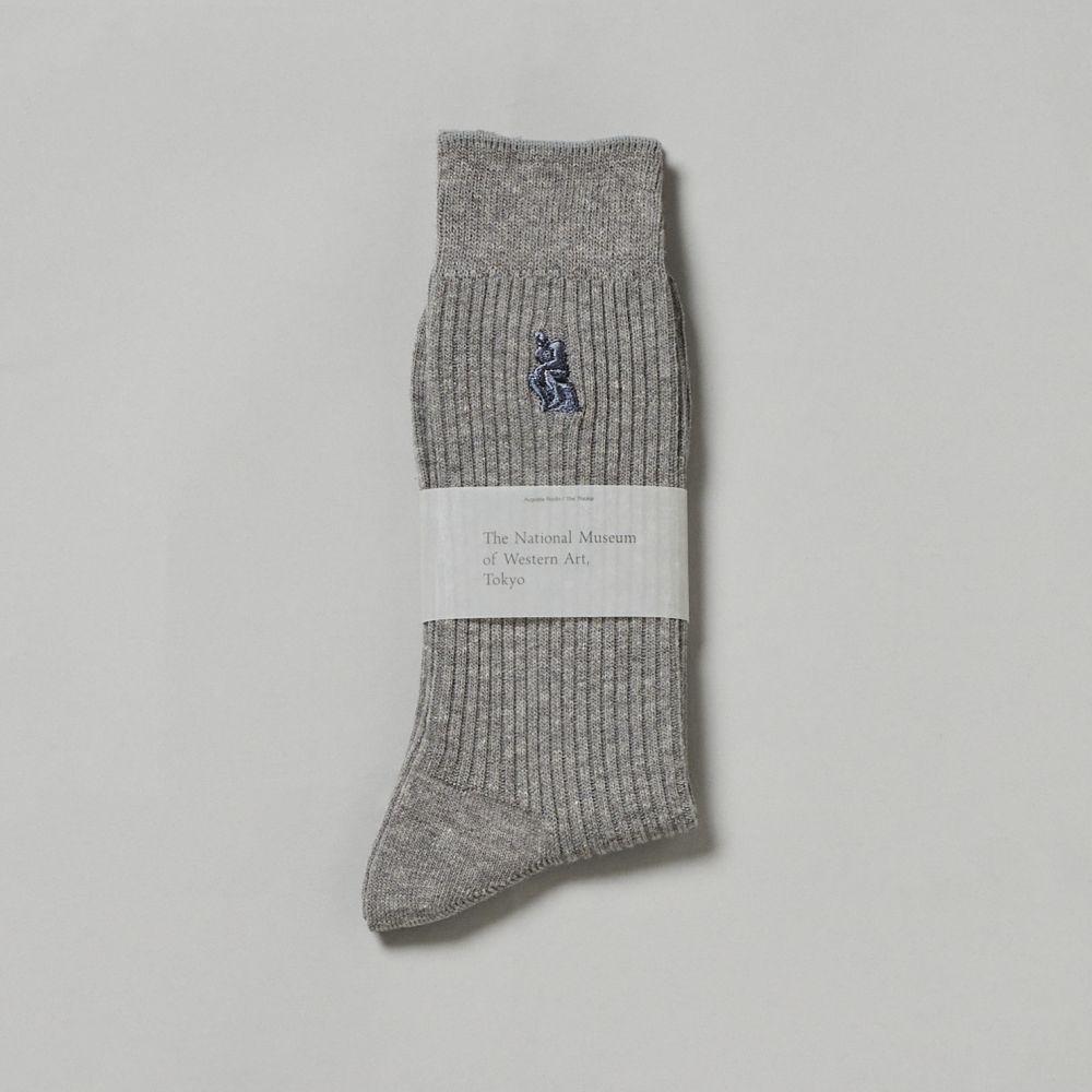 靴下 25-27cm ライトグレー