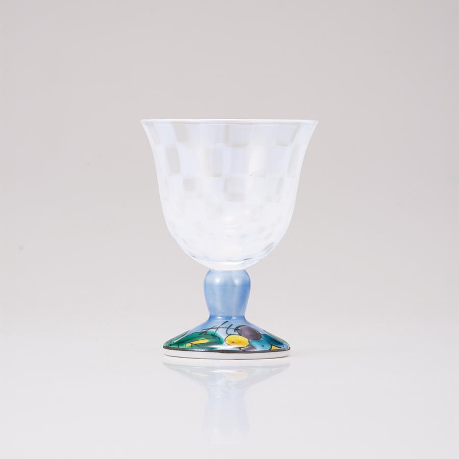 冷酒グラス(オパール)ぶどうブルー