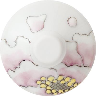 冷酒グラス(オパール)富貴文ピンク