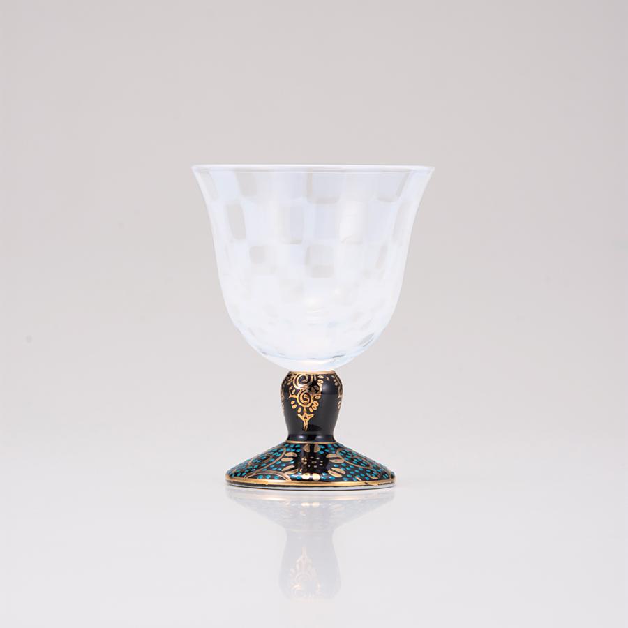 冷酒グラス(オパール)青粒鉄仙