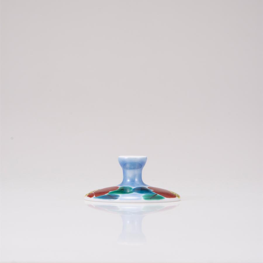 デザートグラス大(無地)山茶花ブルー