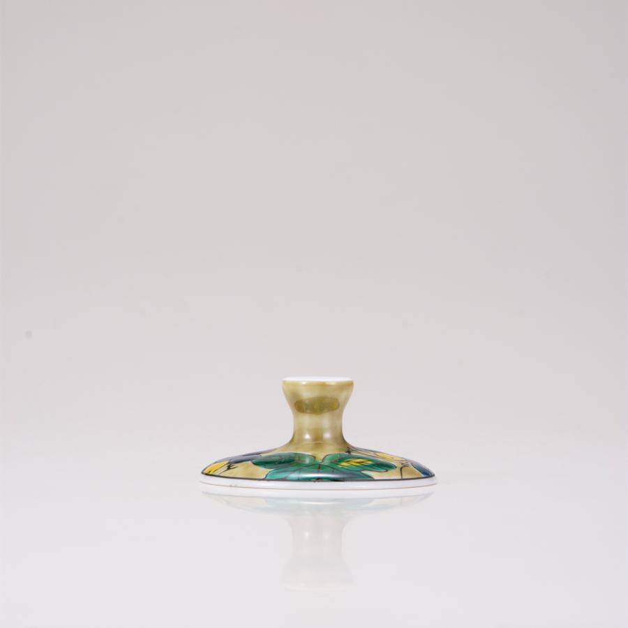 デザートグラス大(斜)ぶどうアメ釉