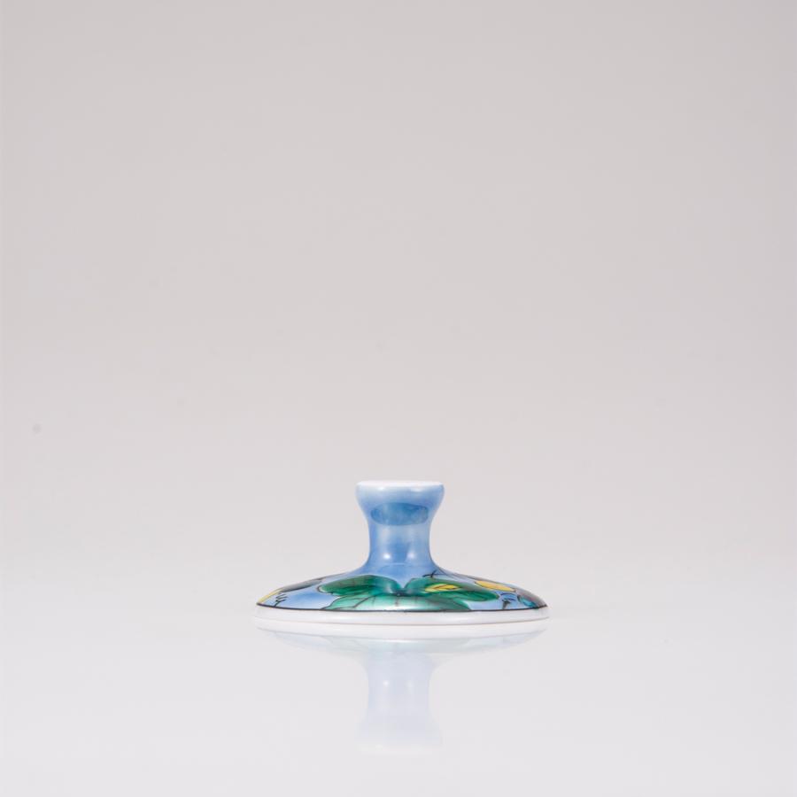デザートグラス大(斜)ぶどうブルー