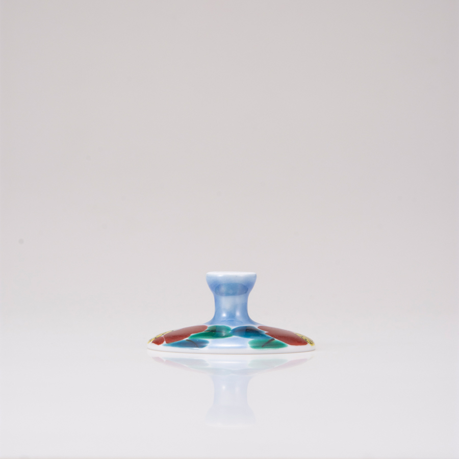 デザートグラス大(斜)山茶花ブルー