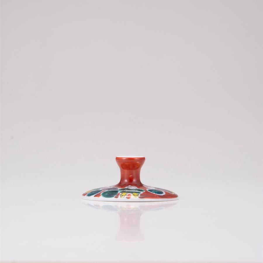 デザートグラス大(斜)木米レッド