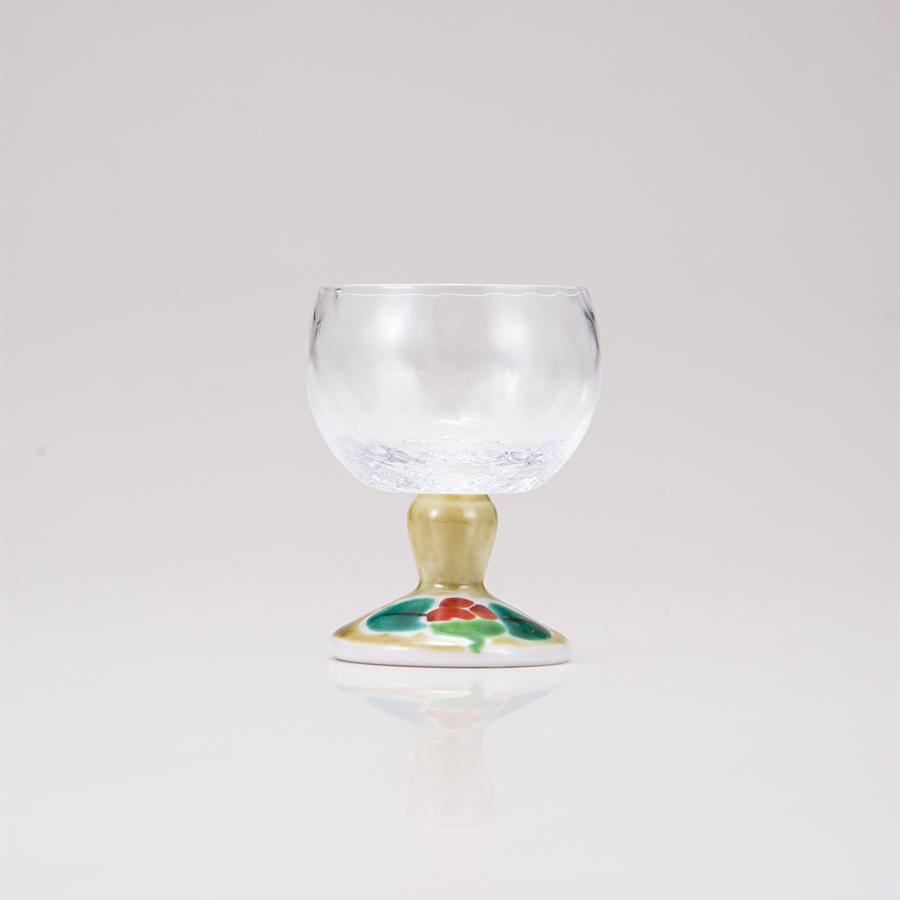 馬上グラス(格子)つぼみアメ釉