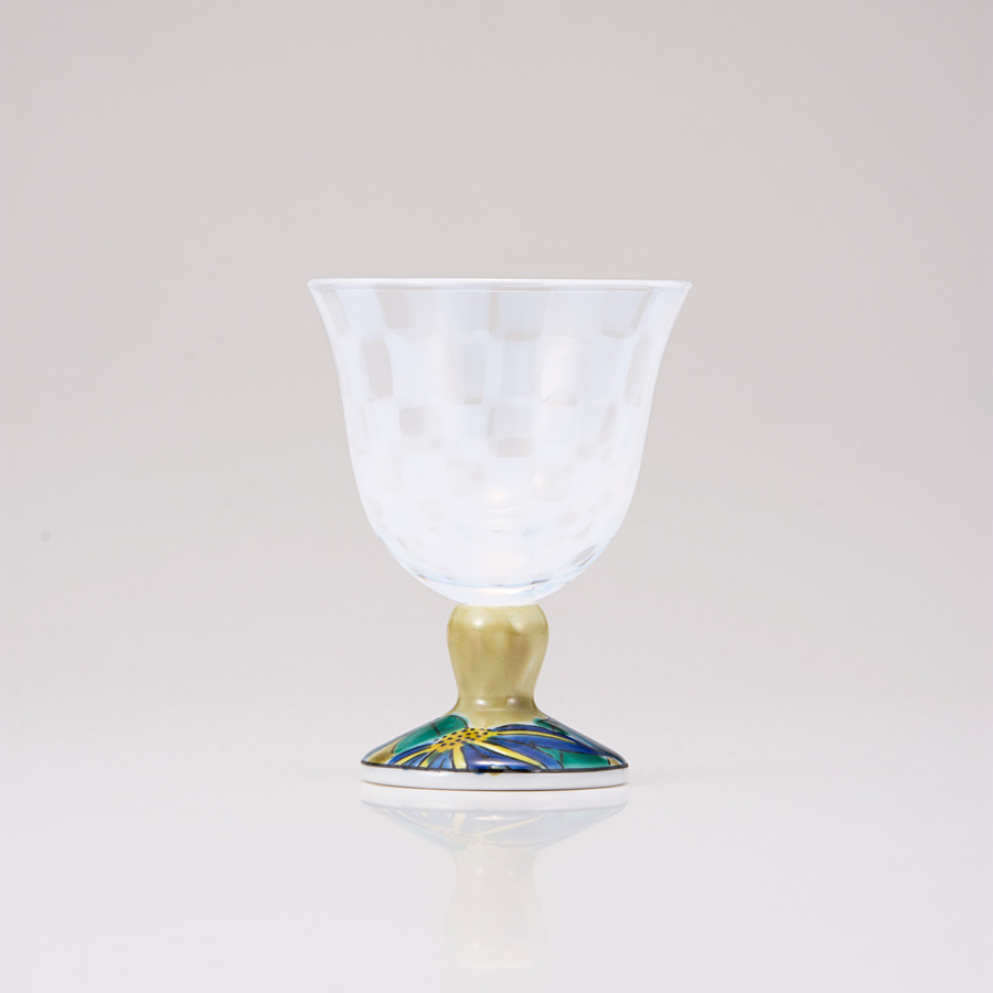 冷酒グラス(オパール)鉄仙アメ釉