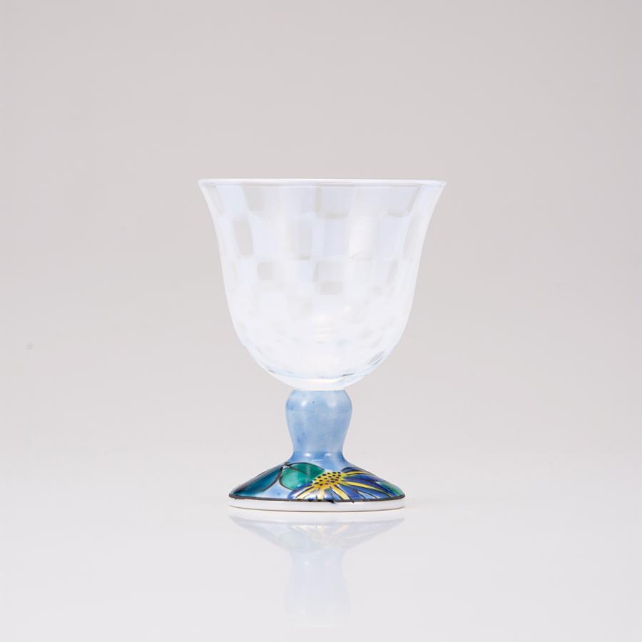 冷酒グラス(オパール)鉄仙ブルー