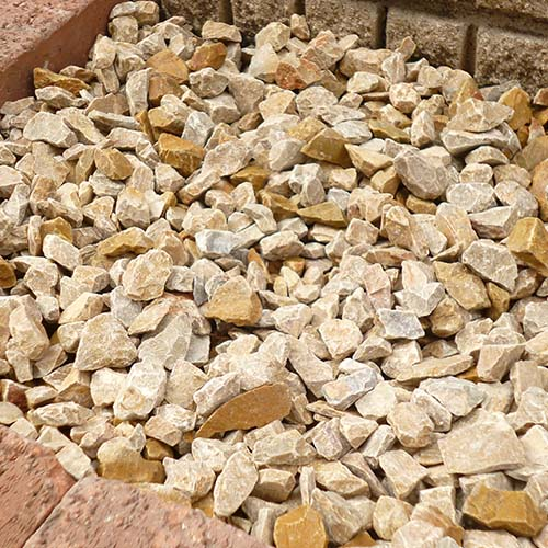 砕石砂利 1-2cm 20kg パンプキンイエロー