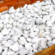 砕石砂利 3-4cm 60kg スノーホワイト