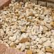 砕石砂利 1-2cm 500kg パンプキンイエロー