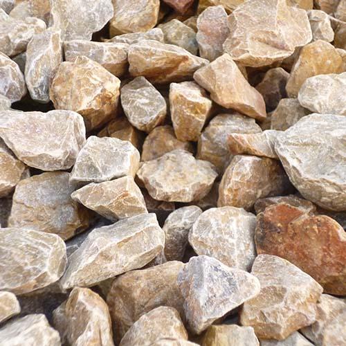 砕石砂利 3-4cm 60kg パンプキンイエロー