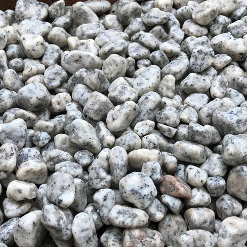 玉石砂利 1-2cm 500kg リリーホワイト