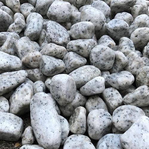 玉石砂利 3-4cm 500kg リリーホワイト