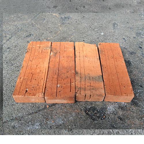 アンティークレンガ 半丁型/レッドブラウン 18個セット