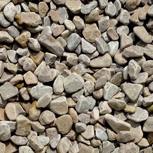 玉石砂利 1-2cm 500kg パンプキンイエロー