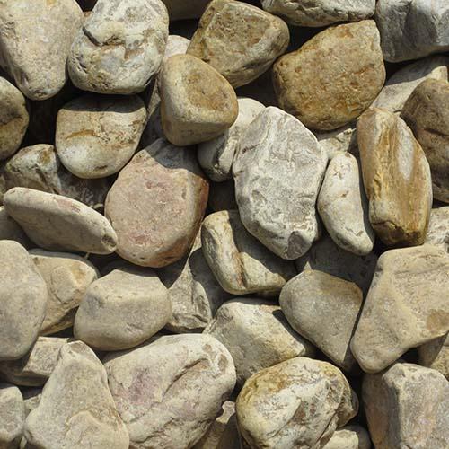 玉石砂利 3-4cm 500kg パンプキンイエロー