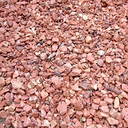 砕石砂利 1-2cm 60kg チェリーレッド
