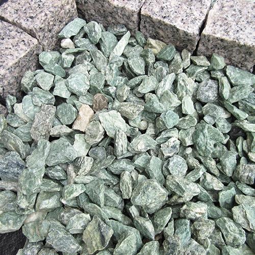 砕石砂利 3-4cm 1000kg アイスグリーン