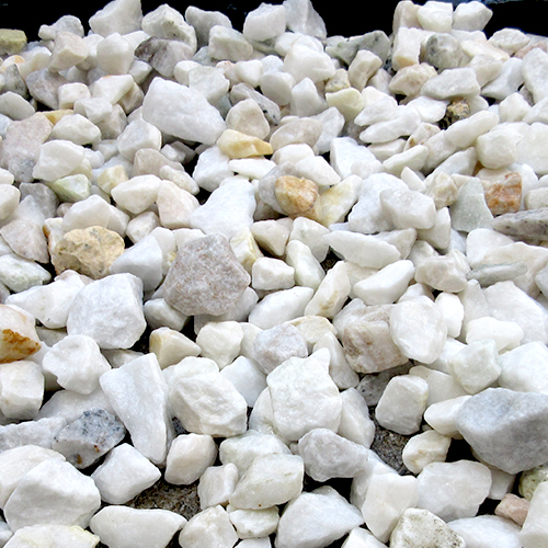 砕石砂利 3-4cm 1000kg アイボリー
