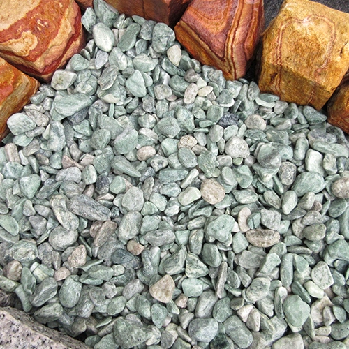 玉石砂利 1-2cm 1000kg アイスグリーン