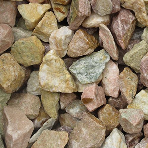 砕石砂利 3-4cm 60kg ピーチピンク