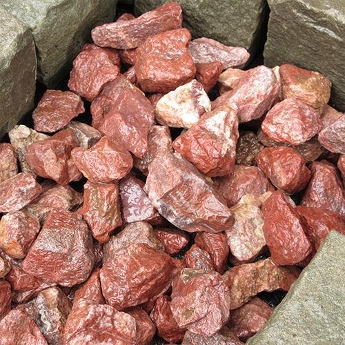 砕石砂利 3-4cm 60kg ボルドーレッド