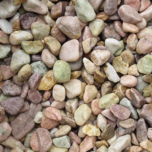 玉石砂利 1-2cm 800kg ピーチピンク