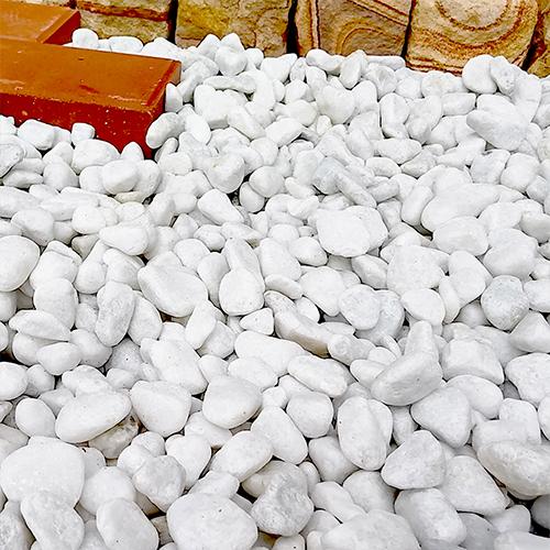 玉石砂利 1-2cm 60kg スノーホワイト