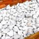 砕石砂利 3-4cm 100kg スノーホワイト