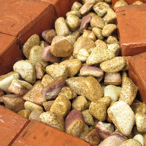 玉石砂利 1-2cm 60kg マーブルイエロー