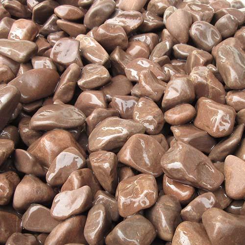 玉石砂利 3-4cm 300kg チョコレート