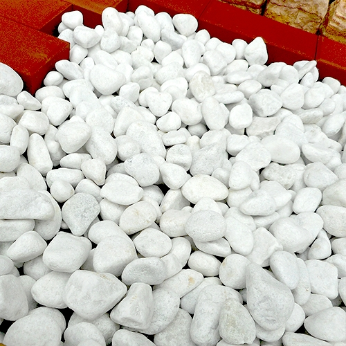 玉石砂利 3-4cm 300kg スノーホワイト