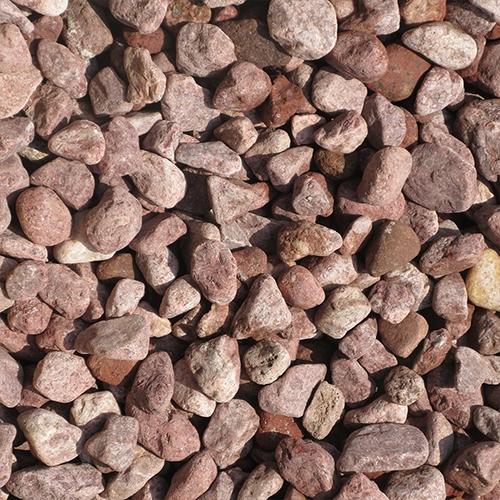 玉石砂利 1-2cm 60kg ボルドーレッド