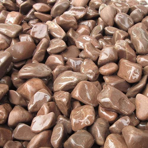 玉石砂利 3-4cm 1000kg チョコレート