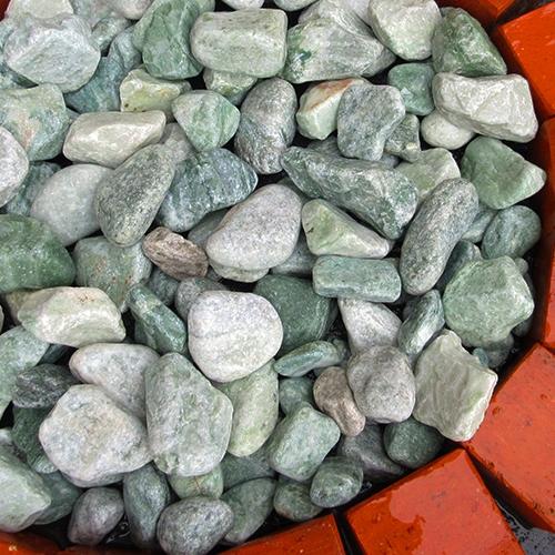 玉石砂利 3-4cm 1000kg アイスグリーン
