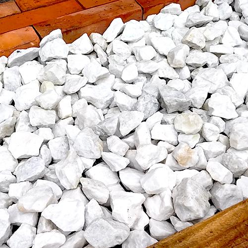 砕石砂利 3-4cm 20kg スノーホワイト