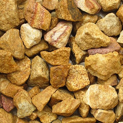 砕石砂利 3-4cm 20kg マーブルイエロー