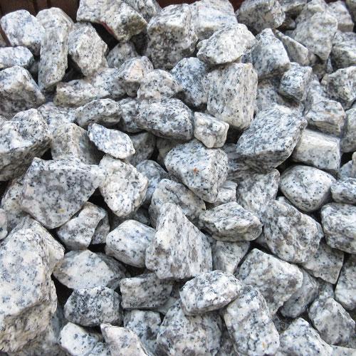 砕石砂利 3-4cm 800kg リリーホワイト
